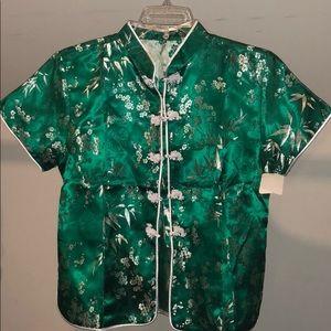 Tops - Green Kimono top XXL